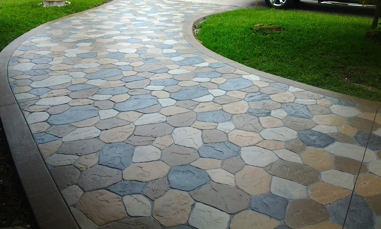 Stamped Concrete Driveways : Stamped concrete driveway super stone inc