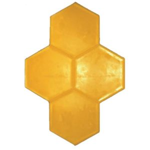 17 Grouted Hexagon Tile