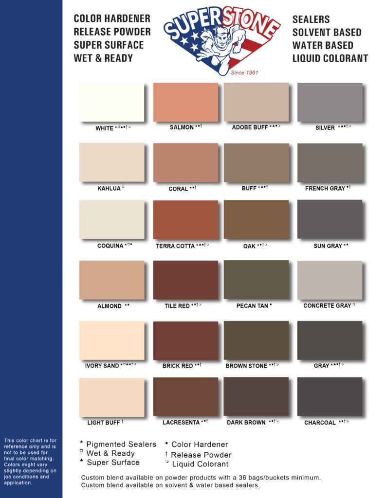 Color Charts – Super Stone, Inc.